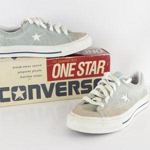 Vintage New Converse One Star Ox Suede Shoes Blue